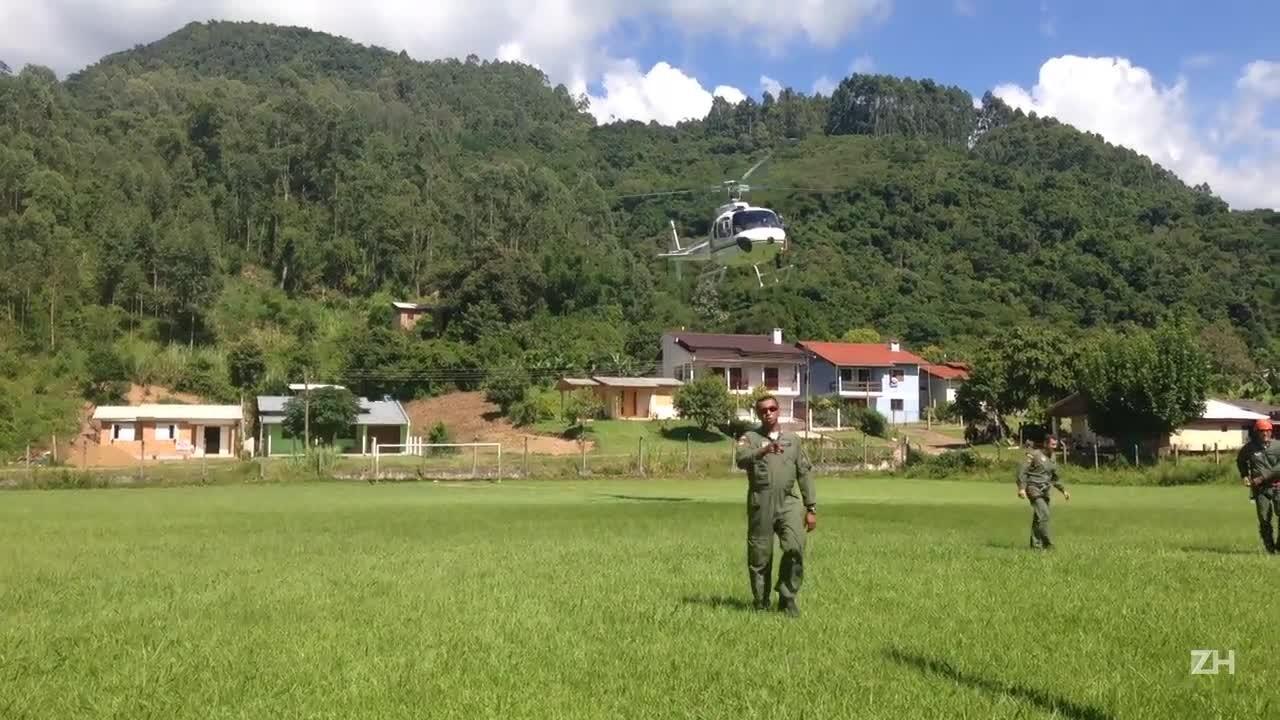 Major da BM explica resgate em Maquiné