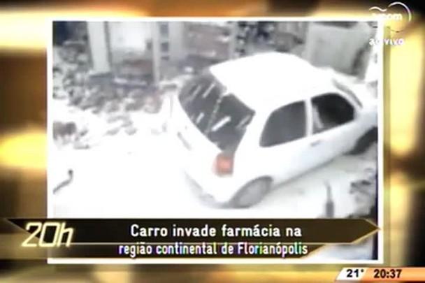 TVCOM 20 Horas - Carro invade farmácia na região continental de Florianópolis - 13.07.15
