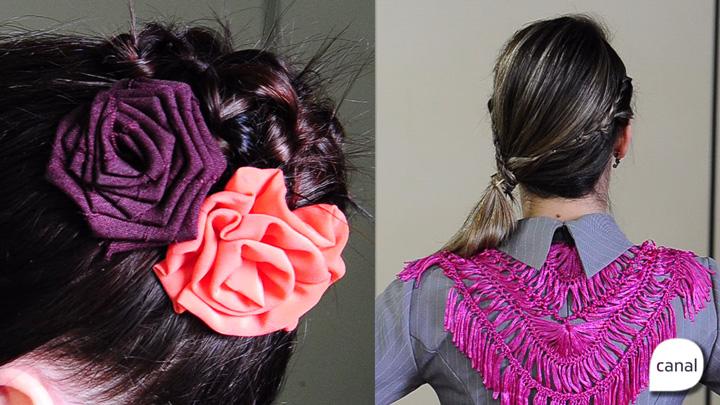 Aprenda dois tipos de penteados para prendas