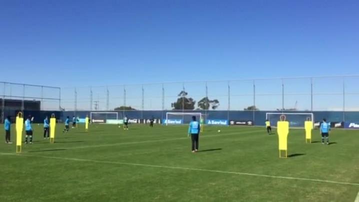 Grêmio treina antes de encarar o Fluminense