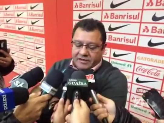 Carlos Pellegrini, vice de futebol do Inter, fala sobre trabalho de Falcão