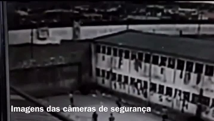 Imagens mostram muro do Presídio de Pelotas sendo derrubado