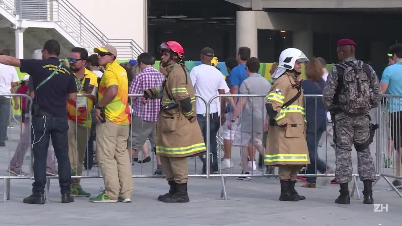 Câmera cai no Parque Olímpico deixando feridos