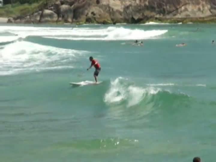 Stand up paddle surf na Prainha, em São Francisco do Sul