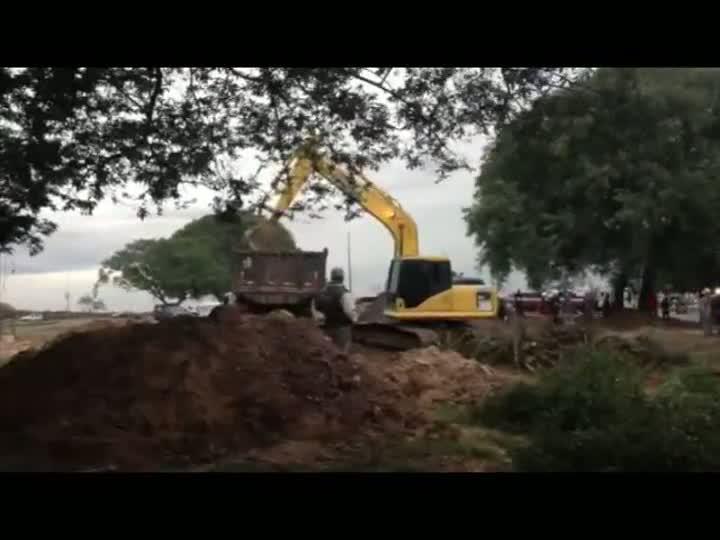 Prefeitura remove a última árvore prevista para hoje. 29/05/2013