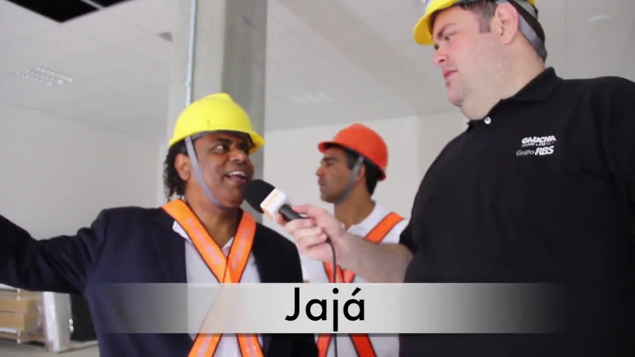 Por dentro do Beira-Rio: Jajá e Fabiano conhecem o novo vestiário do Beira Rio. 05/11/2013