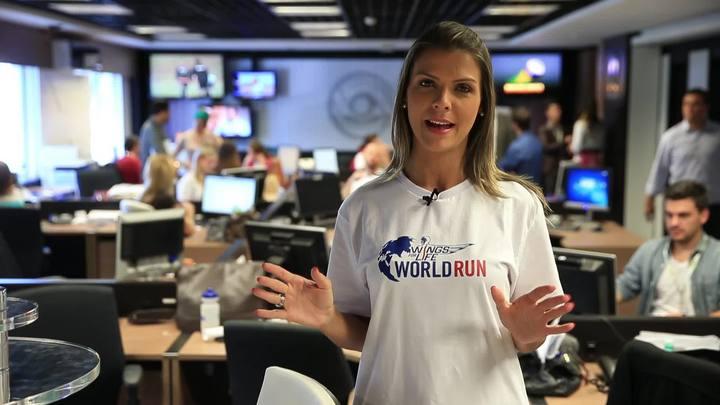 Mariana Paniz, colunista de trânsito da RBS, deixa os automóveis de lado e dá passagem para a Wings for Life World Run