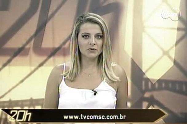 TVCOM 20h - Prefeito Clésio Salvaro assumiu hoje a prefeitura de Criciúma - 15.1.15