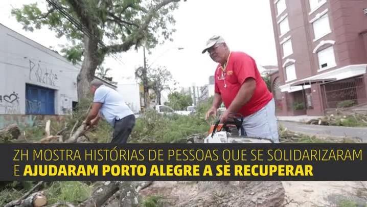 Exemplos de solidariedade na recuperação de Porto Alegre
