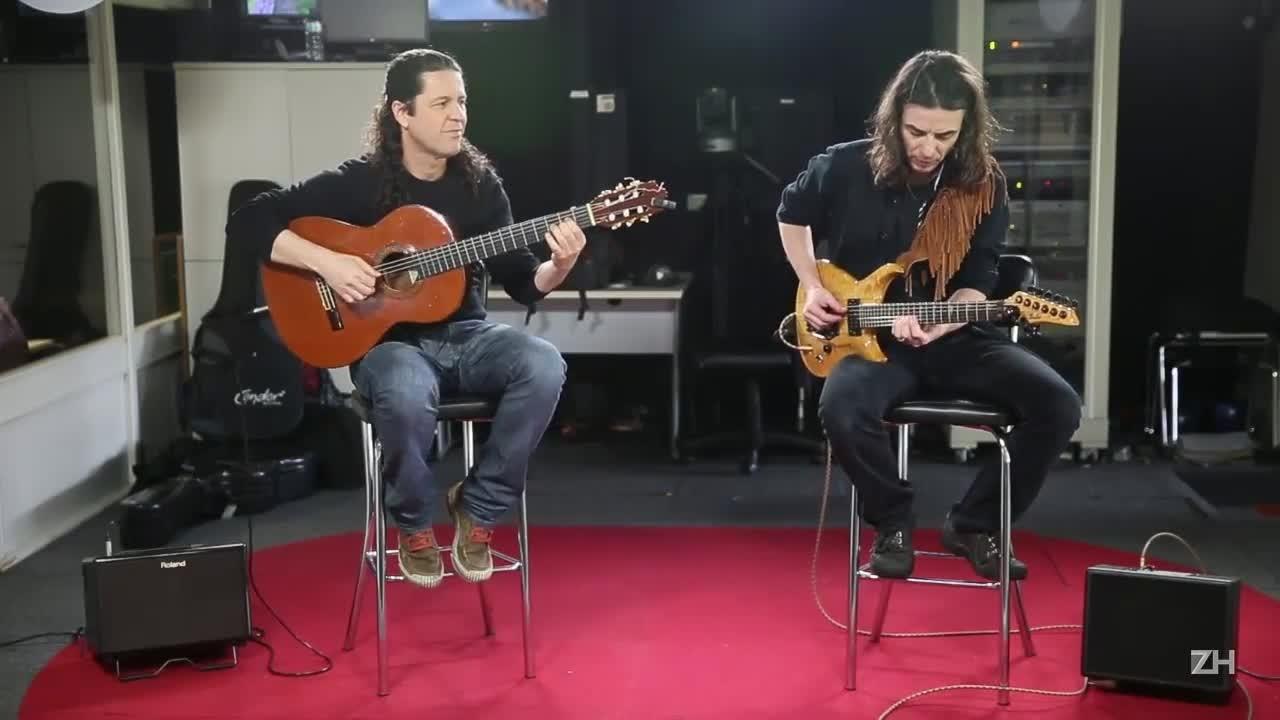 Frank Solari & Daniel Sá na redação de Zero Hora