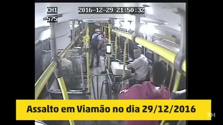 Mãe e filhos assaltam e agridem passageiros de ônibus (29/12/2016)