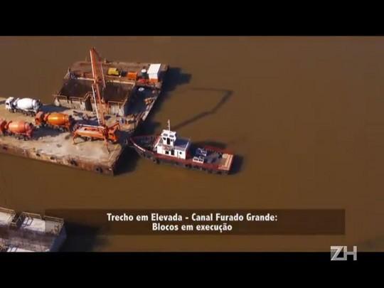 Obras da nova ponte do Guaíba estão 52% concluídas