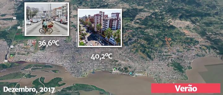 GZH Explica: por que a temperatura varia significativamente de um bairro para outro?