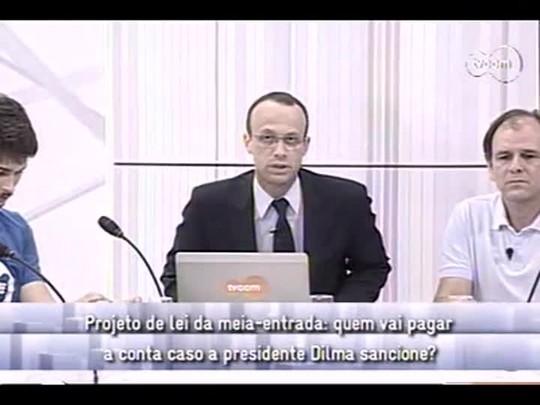 Conversas Cruzadas - 3o bloco - Meia-entrada aprovada no Senado - 17/12/2013