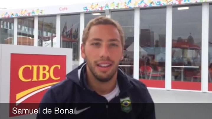 Nadador Samuel de Bona manda recado aos gaúchos antes da disputa na Maratona Aquática do Pan