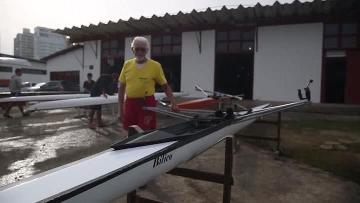 Odilon Martins lembra dos tempos áureos do remo em Florianópolis