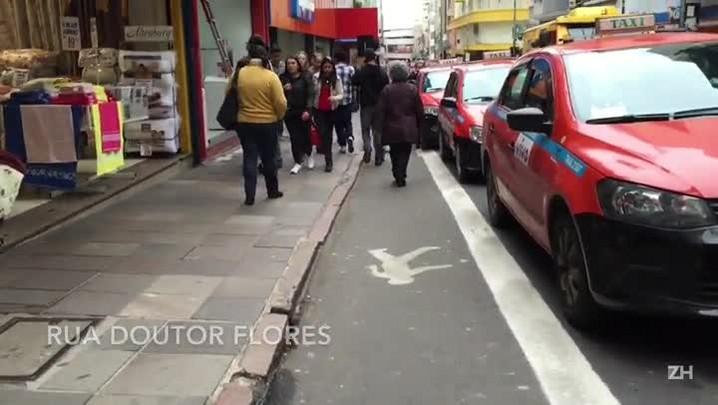 Centro de Porto Alegre ganha pedestrovia