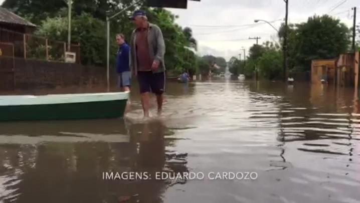 Veja imagens dos problemas causados pela chuva em Montenegro, no Vale do Caí