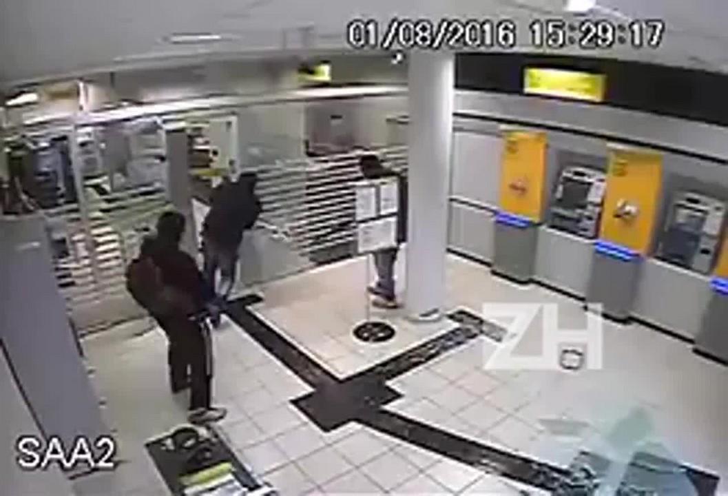 Imagens mostram ataque a agência bancária de Nova Roma do Sul