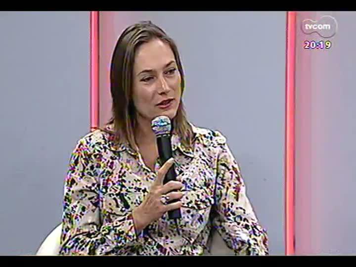 TVCOM 20 Horas - Especial comemorativo da Semana de Porto Alegre: entrevista com a presidente da Fundação Gaia, Lara Lutzenberger - Bloco 4 - 25/03/2013