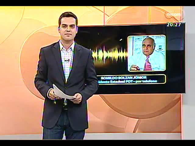 TVCOM 20 Horas - 20 Horas acompanha andamento das obras de mobilidade urbana: avenida Beira-Rio - Bloco 3 - 30/09/2013