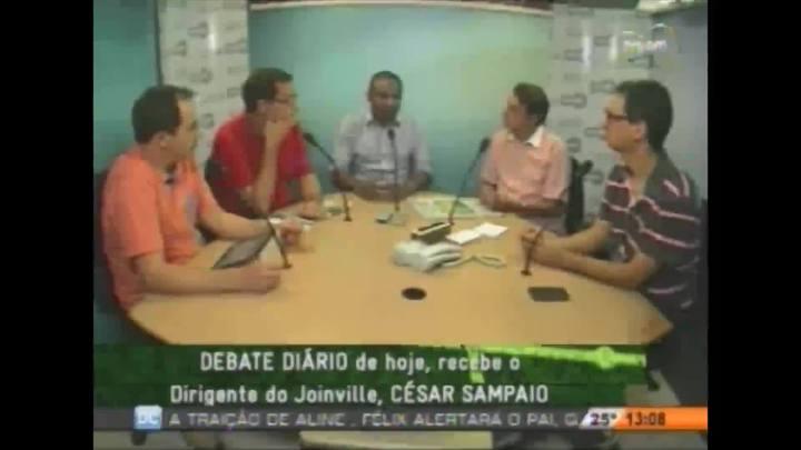 César Sampaio, homem forte do futebol do Joinville, no Debate Diário