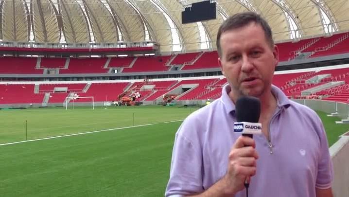 Cleber Grabauska comenta jogo-treino de Inter x Cerâmica no novo Beira-Rio - 25/01/2014