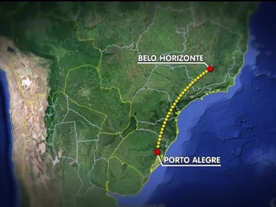 TVCOM 20 Horas - Avião da Azul faz pouso de emergência na base aérea de Canoas - 19/01/15