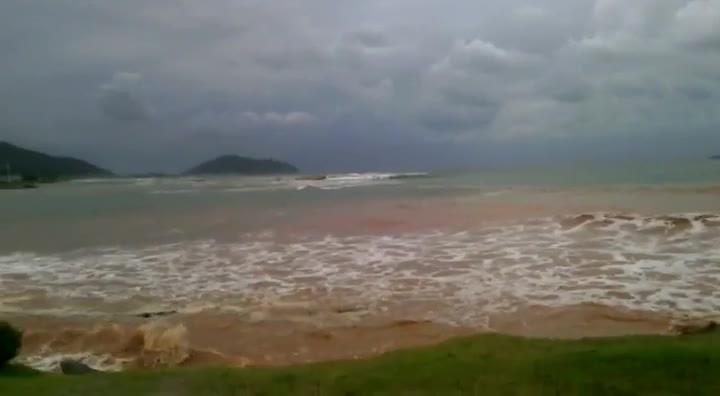 Maré alta provoca alagamentos na região Norte de SC