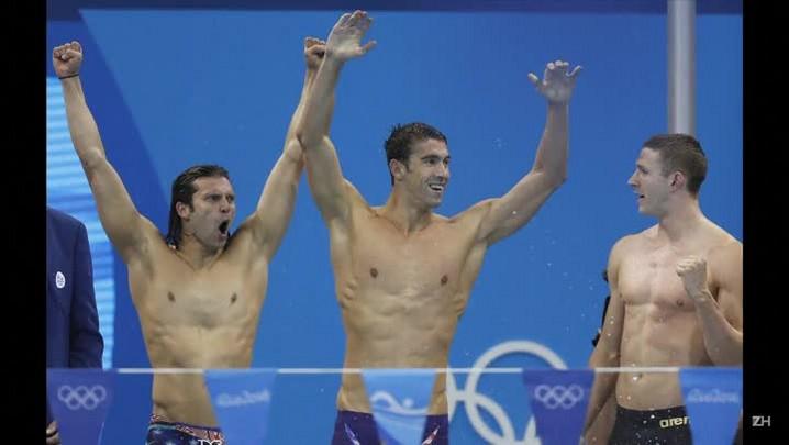 Phelps se despede do Rio com mais um ouro