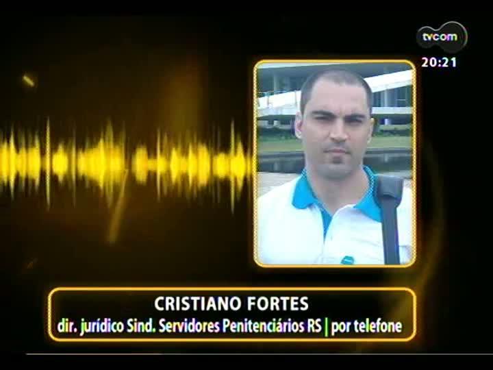 TVCOM 20 Horas - 17/01/2013 - Bloco 3 - Paralisação dos agentes penitenciários do Brasil