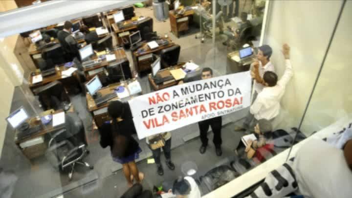 1 minuto - Clima durante a votação do Plano Diretor de Florianópolis