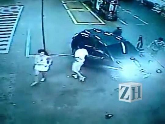 Câmeras de segurança registraram fuga de assaltantes que mataram homem no Centro Histórico
