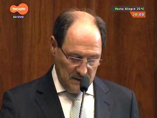TVCOM 20 Horas - Governador José Ivo Sartori toma posse com discurso de medidas duras para reverter crise financeira do estado - 01/01/2015