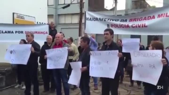 Moradores de Charqueadas protestam por segurança