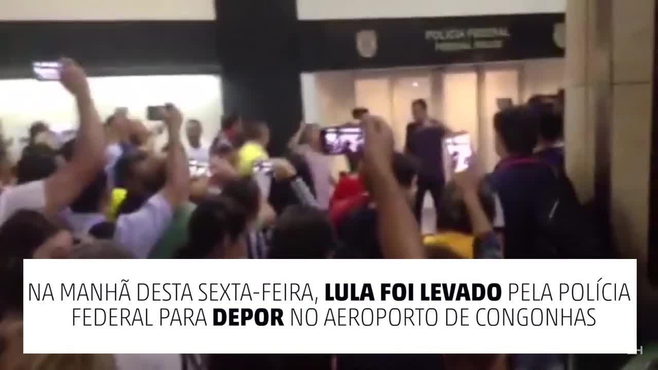 Aeroporto de Congonhas é tomado por manifestantes pró e contra Lula