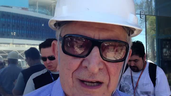 Fábio Koff se emociona ao visitar a Arena do Grêmio pela primeira vez