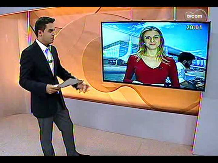 TVCOM 20 Horas - Mudanças no ministério de Dilma derrubam gaúchos Mendes Ribeiro Filho e Brizola Neto - Bloco 1 - 15/03/2013