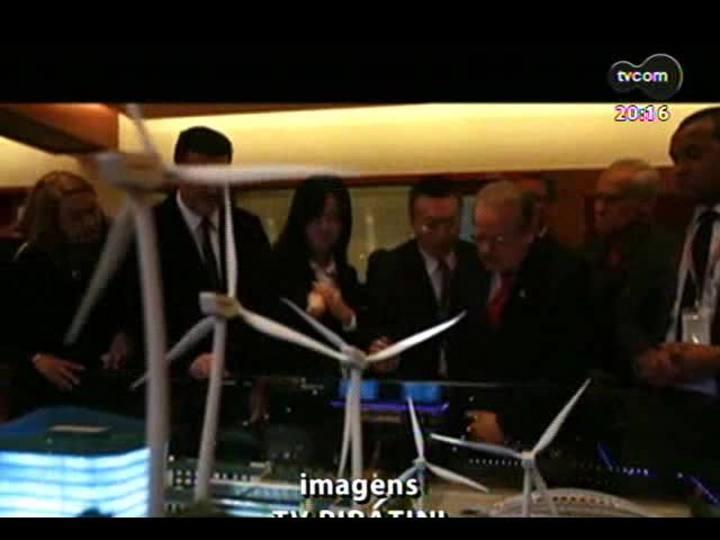 TVCOM 20 Horas - Saiba quais são os primeiros resultados da viagem de Tarso Genro à China - Bloco 2 - 04/12/2013