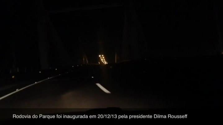 Quase um terço da recém-inaugurada Rodovia do Parque está sem iluminação
