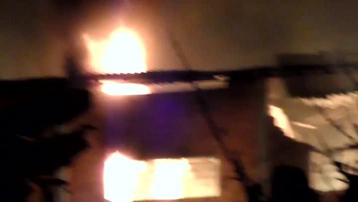 Confira imagens do incêndio em uma empresa de Joinville