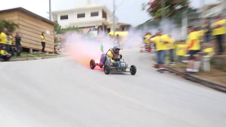 Segunda edição da Corrida Maluca reúne famílias no Bairro Vendaval, em Biguaçu