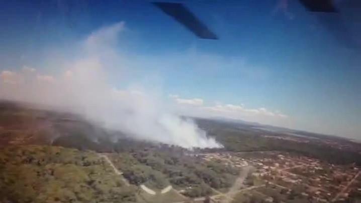 Confira imagens do incêncio em Barra do Sul