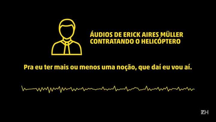 Polícia divulga áudio da gravação da contratação de helicóptero que foi sequestrado na Serra