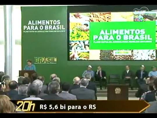 TVCOM 20 Horas - Em Brasília, o Governo lançou o novo Plano Safra da Agricultura Familiar - Bloco 3 - 26/05/2014