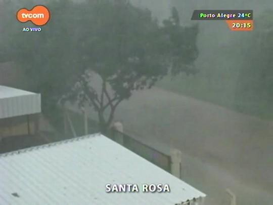 TVCOM 20 Horas - 33 mil clientes ainda estão sem luz por causa do temporal que atingiu hoje a região Noroeste - 02/01/2015