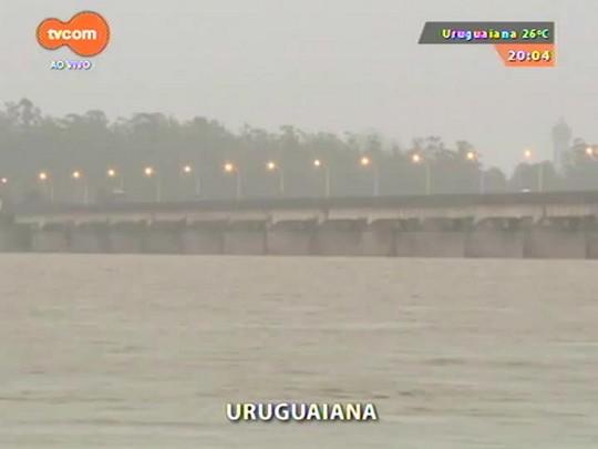 TVCOM 20 Horas - Chuva na Fronteira Oeste causa transtornos e enchente em Uruguaiana - 07/01/2015