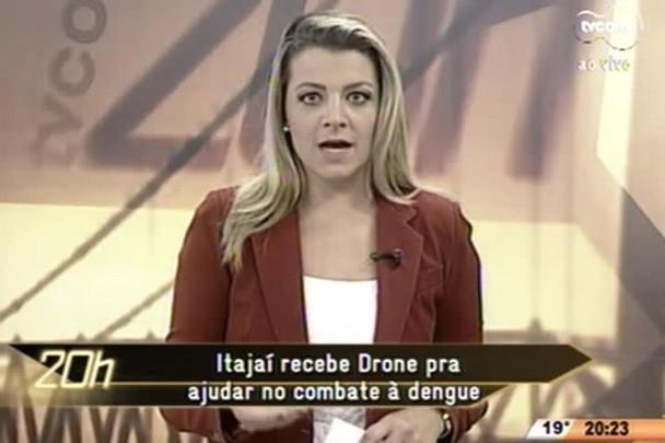 TVCOM 20 Horas - Itajaí recebe Drone para ajudar no combate à dengue - 11.06.15