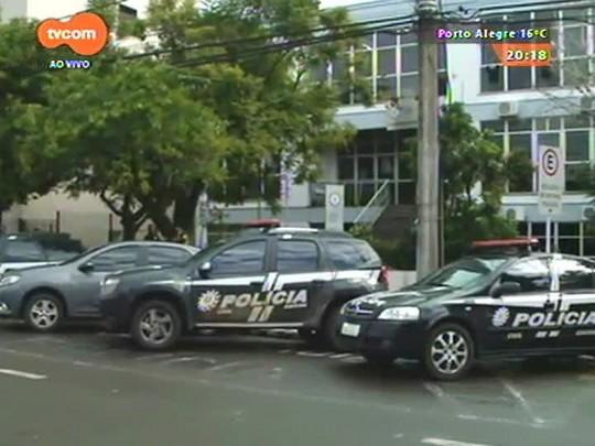 TVCOM 20 Horas - Policiais Civis protestam por melhores condições de trabalho e contra a falta de efetivo nas delegacias - 17/07/2015