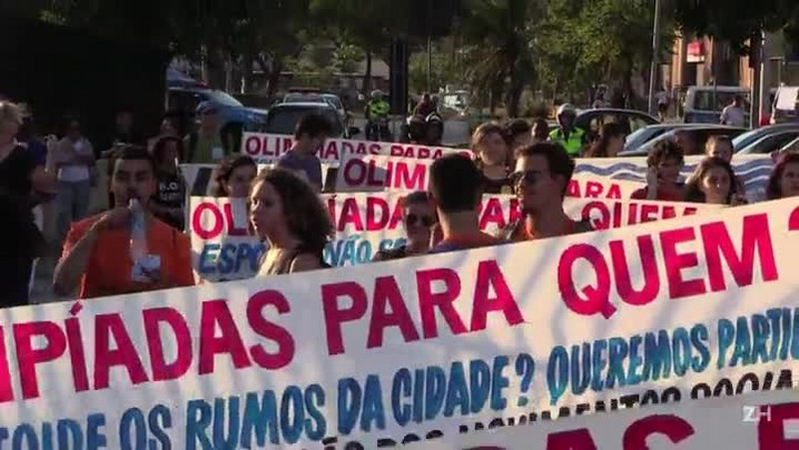 Protesto contra as Olimpíadas no Rio